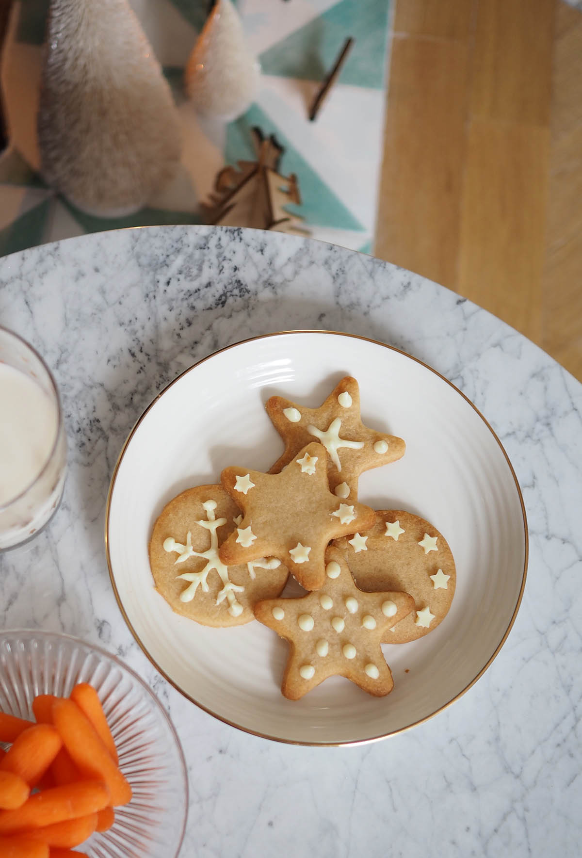 Santa and Rudolph's snack