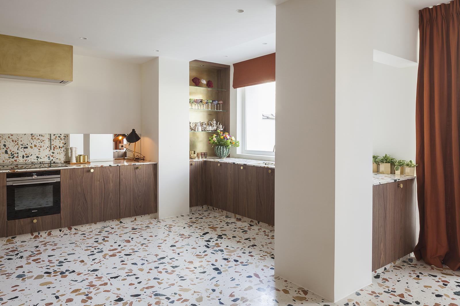 Terrazzo kitchen - via  Dzek