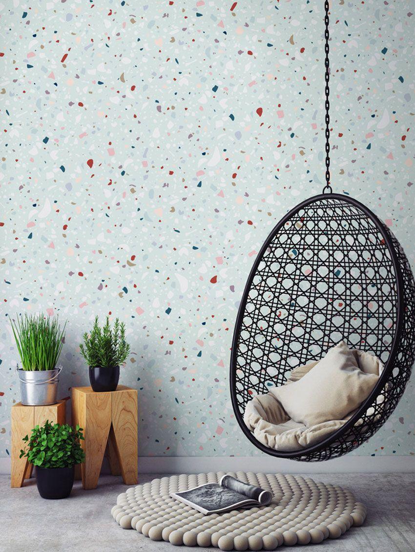 Terrazzo print wallpaper - Papermint