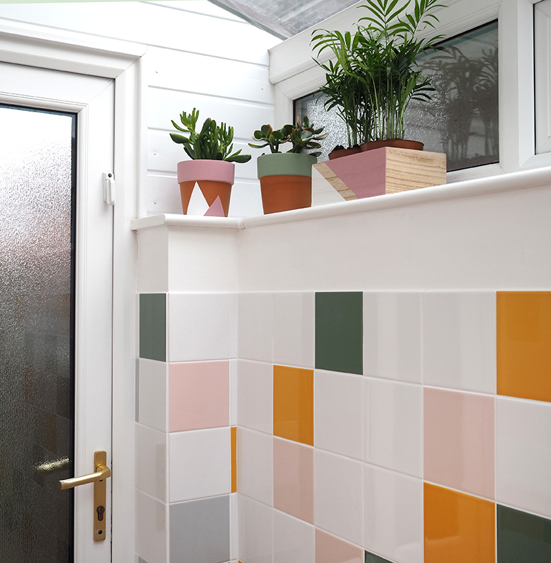 colourful tiled porch