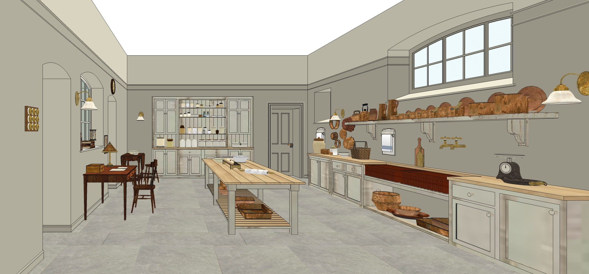 Downton Abbey Kitchen And Servant S Hall Sets Ginger Tougas