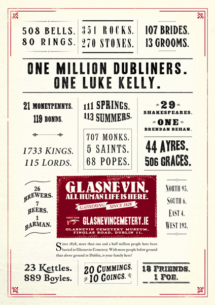 Poster from the award-winning Glasnevin Cemetery campaign