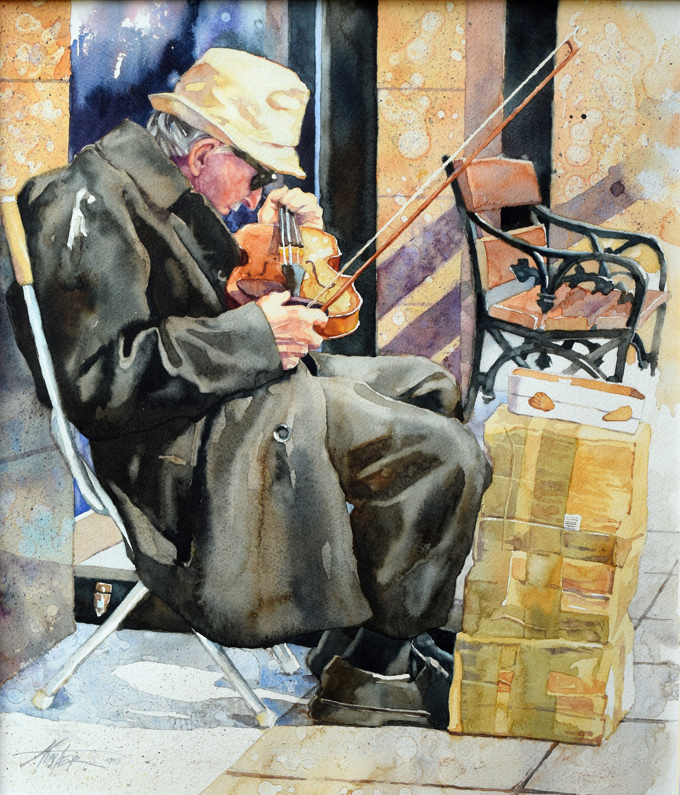 A Will to Play  received Best of Show honors in Aqueous 2016, the 70th International Exhibition of the Pittsburgh Watercolor Society from distinguished juror Gerald Brommer.