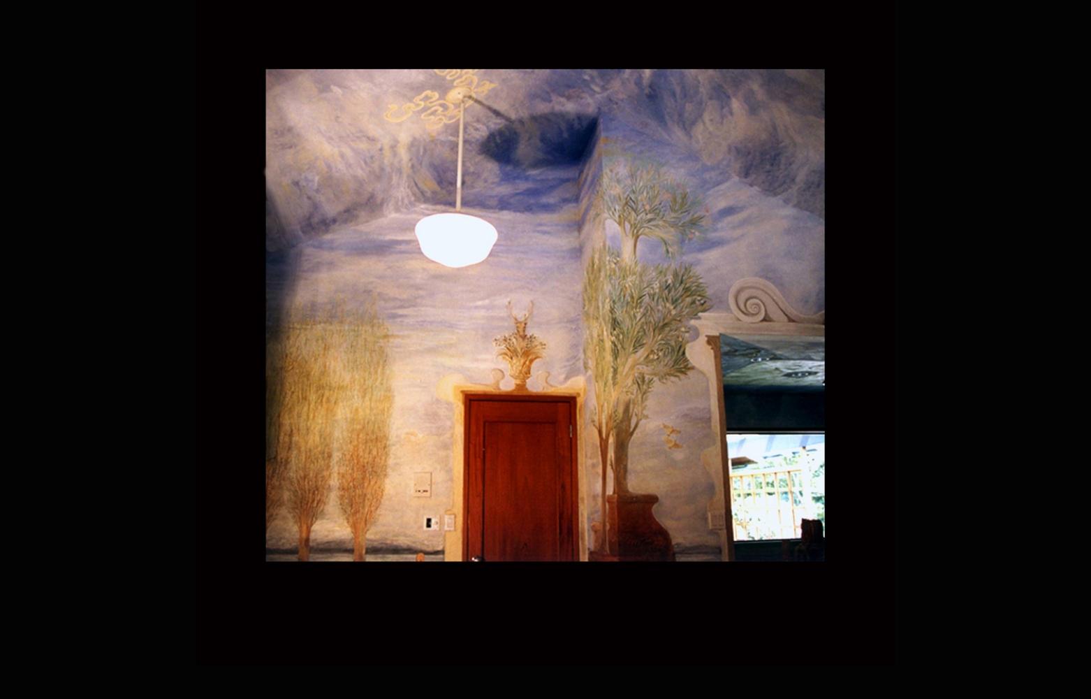 Skyline with oleanders fresco