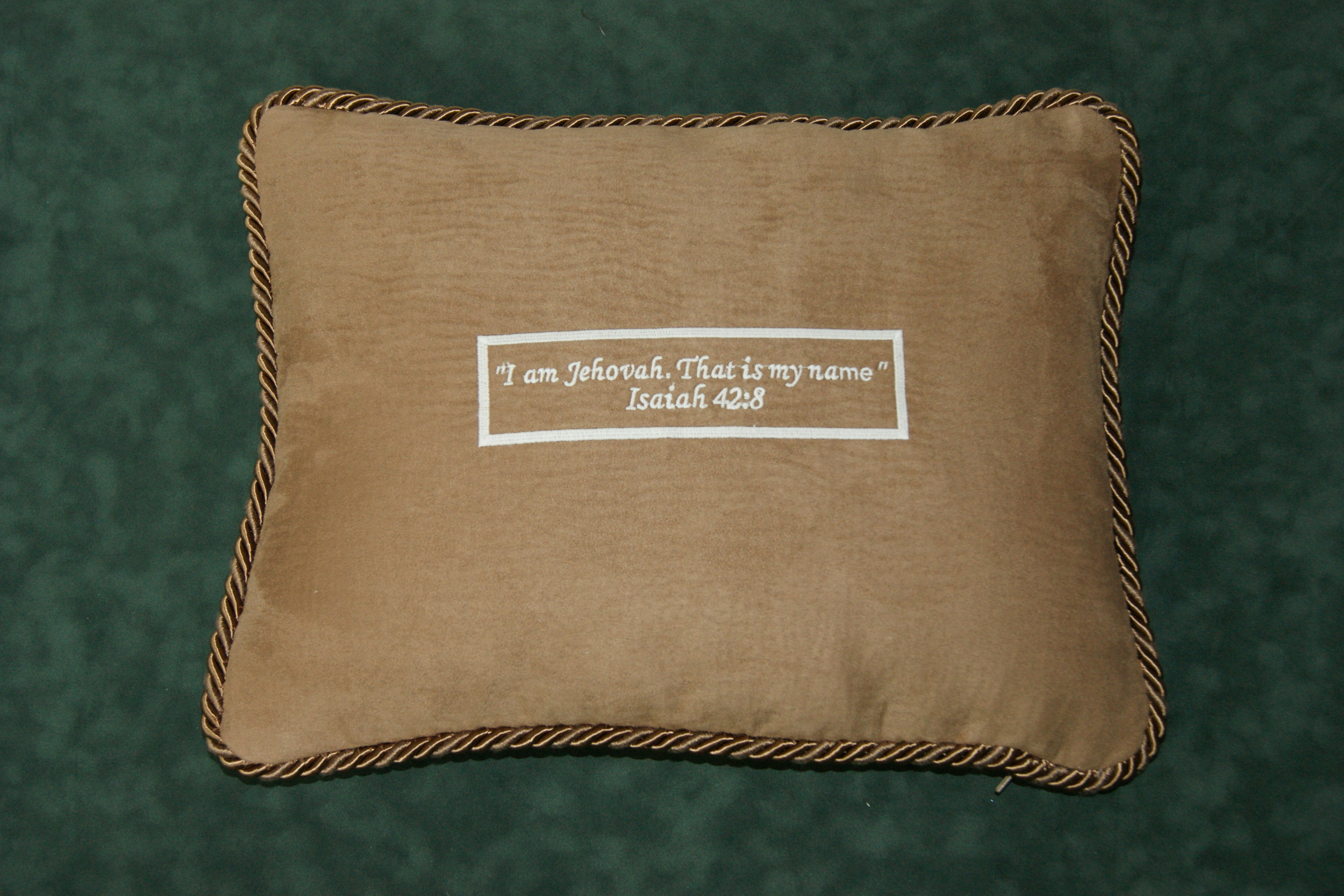 Pillows with embroidery with you favorite Scripture - glow in the dark