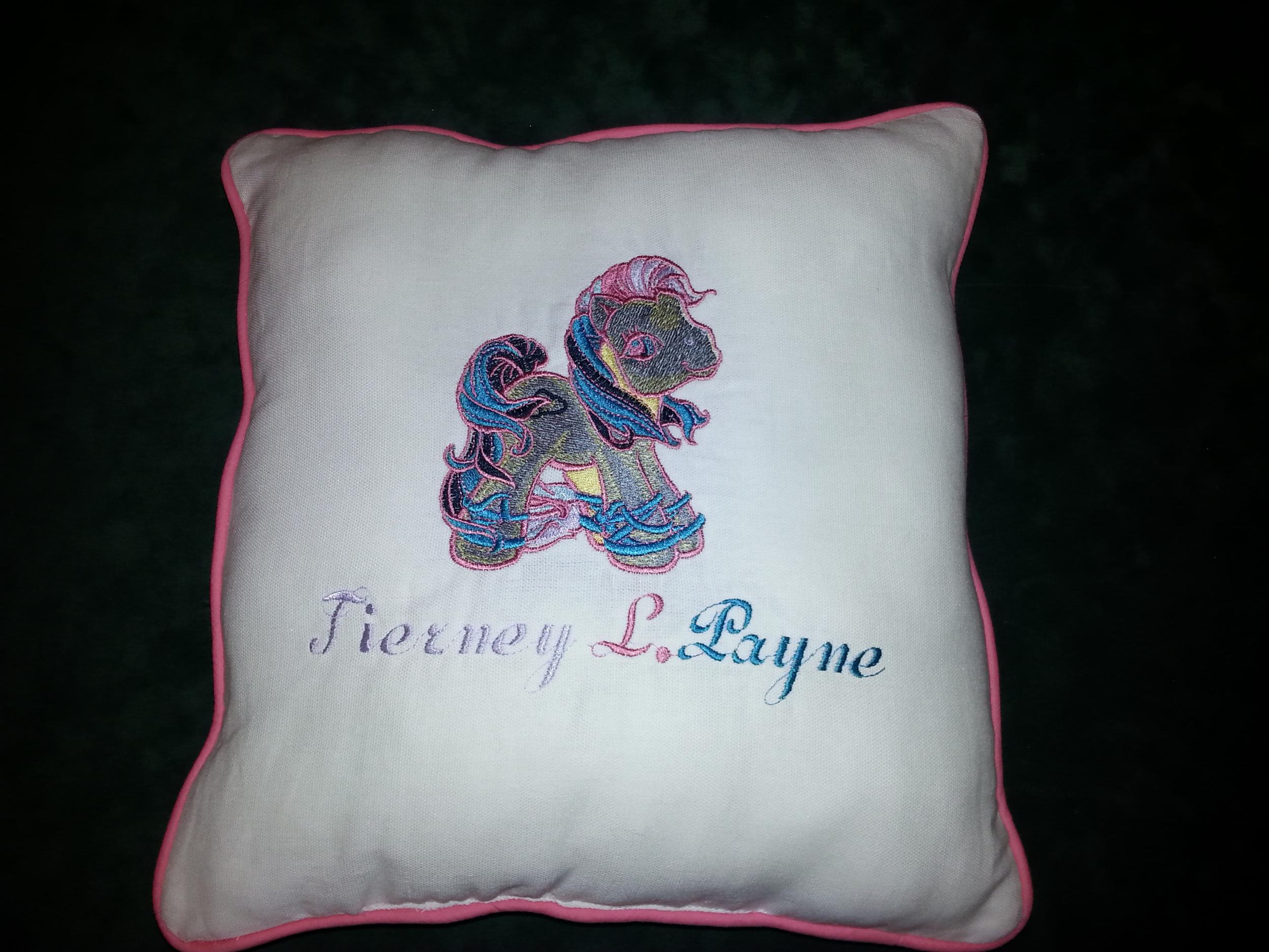 New Rainbow horse pillow.
