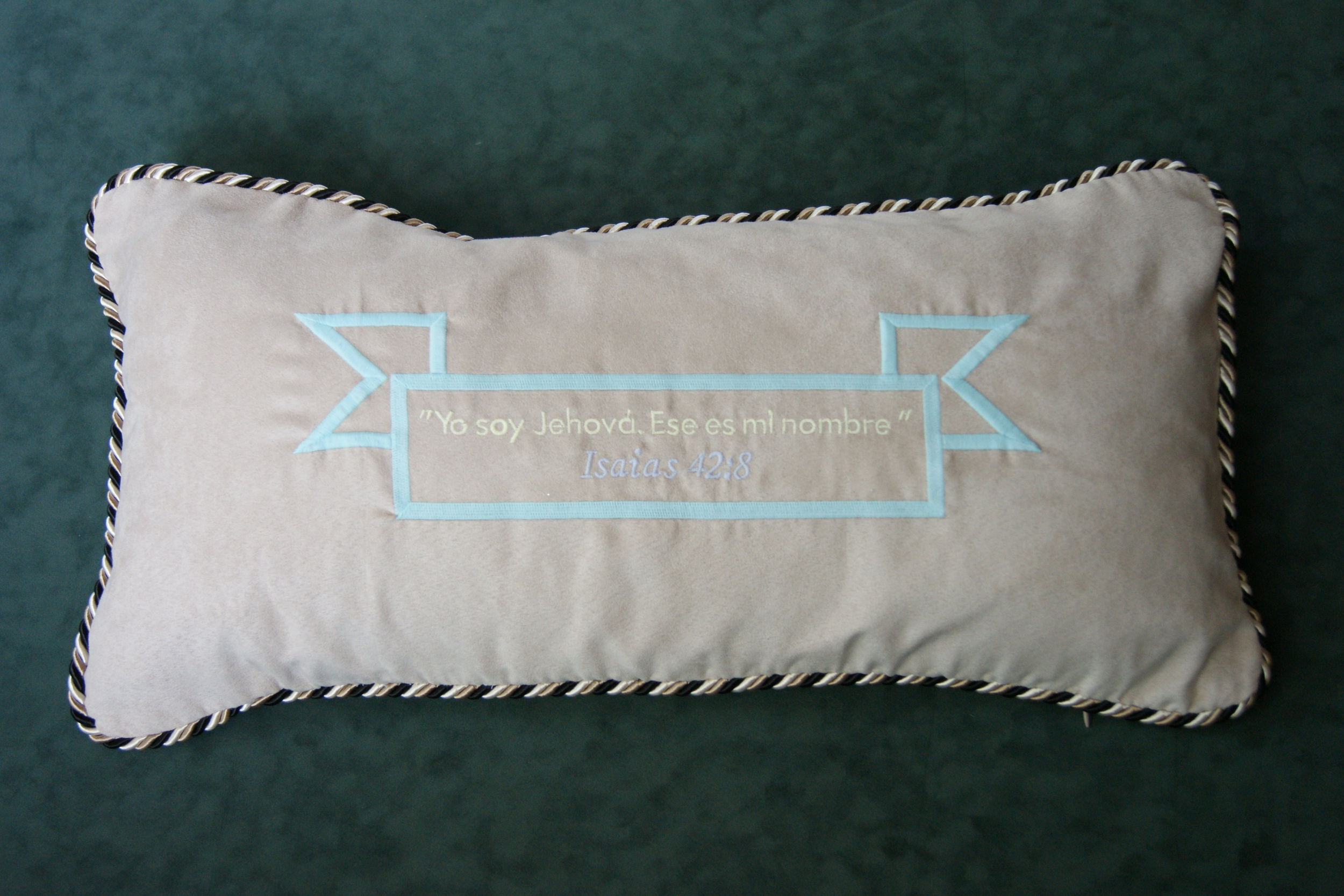 Pillows embroidery - glow in the dark ADD YOVORITE SCRIPTURE FROM ANY BIBLE .