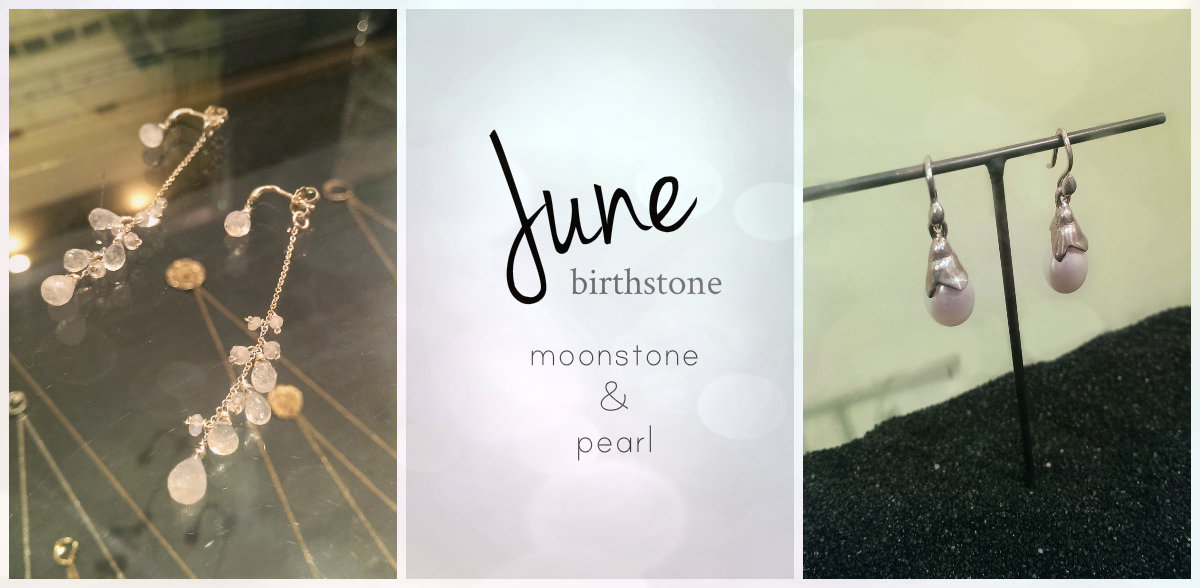 June-moonstone & pearl  How much do you know about pearl or moonstone? If your birthday falls in June, you get to pick two beautiful birthstone options of either pearl or moonstone. Lucky you! The simmering moonstone is associated with the moon and was the stones of the goddess Diana. It is known to bring wearer good fortune, enhances intuition, and offer protection. We love the soft and subtle glow of moonstone that has some sparks of bluish or even reddish color in it! Actually, this is one of any new york's  favorite and popular stones, as this romantic milky-white color makes you look feminine.  Pearl comes in many different varieties including saltwater or freshwater and natural or cultivated. Pearls are one of the only gemstones to come from a living sea creature, and also requires no faceting or polishing process to show their natural beauty. Although most commonly found in white or cream, pearls can also come in yellow, green, black, blue, or even pink. We often feel that no matter what kind of design, the jewelry with pearl makes the wearer elegant and sophisticated. What a magical gem!!   shop moonstone jewelry at noi online store    shop pearl jewelry at noi online store