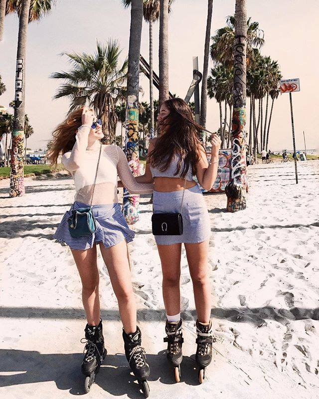 Miss my sissy 💕 if you're visiting LA the Venice boardwalk is a MUST! ✨