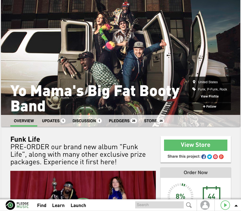 """Support  YMBFBB  as they launch their  """"Funk Life"""" Pledge Music Campaign . Click on the image above to get your funk on!"""