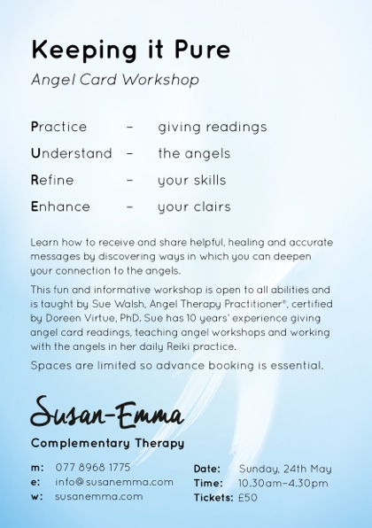 angel card workshop sue walsh surrey