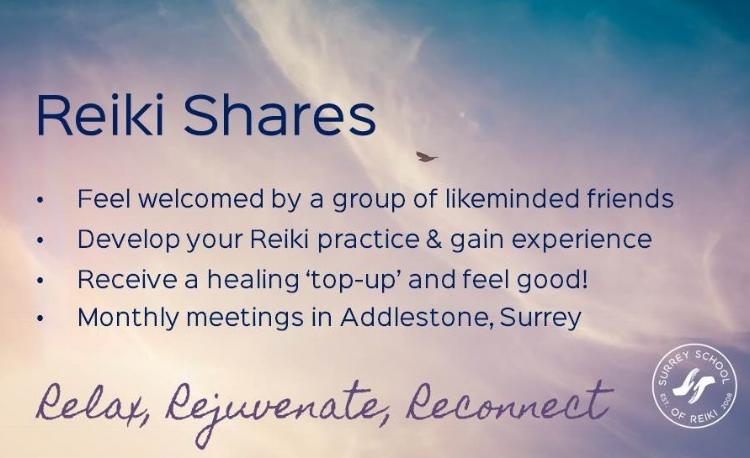 Monthly Reiki Healing Share Surrey www.susanemma.com