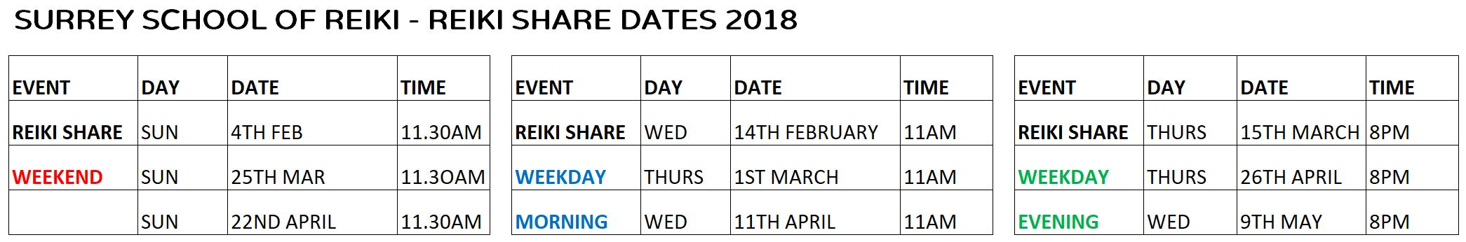 REIKI SHARE DATES 2018 Surrey School of Reiki.JPG