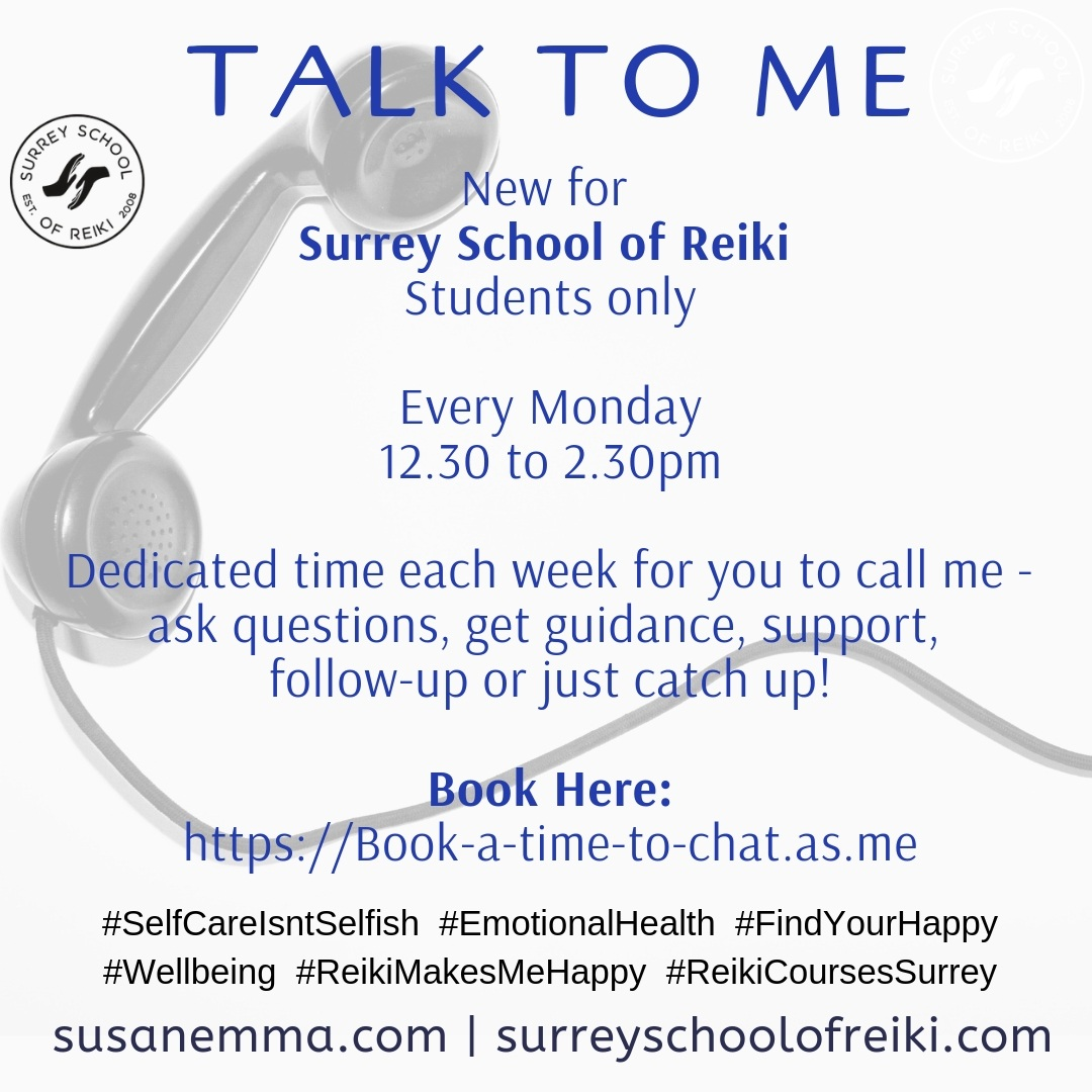 Telephone Time www.susanemma.com Reiki in Surrey Reiki Courses