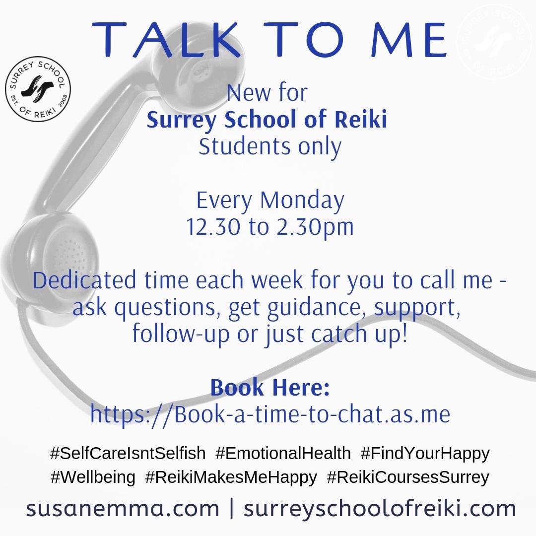 Telephone Time www.susanemma.com Reiki in Surrey Reiki Courses