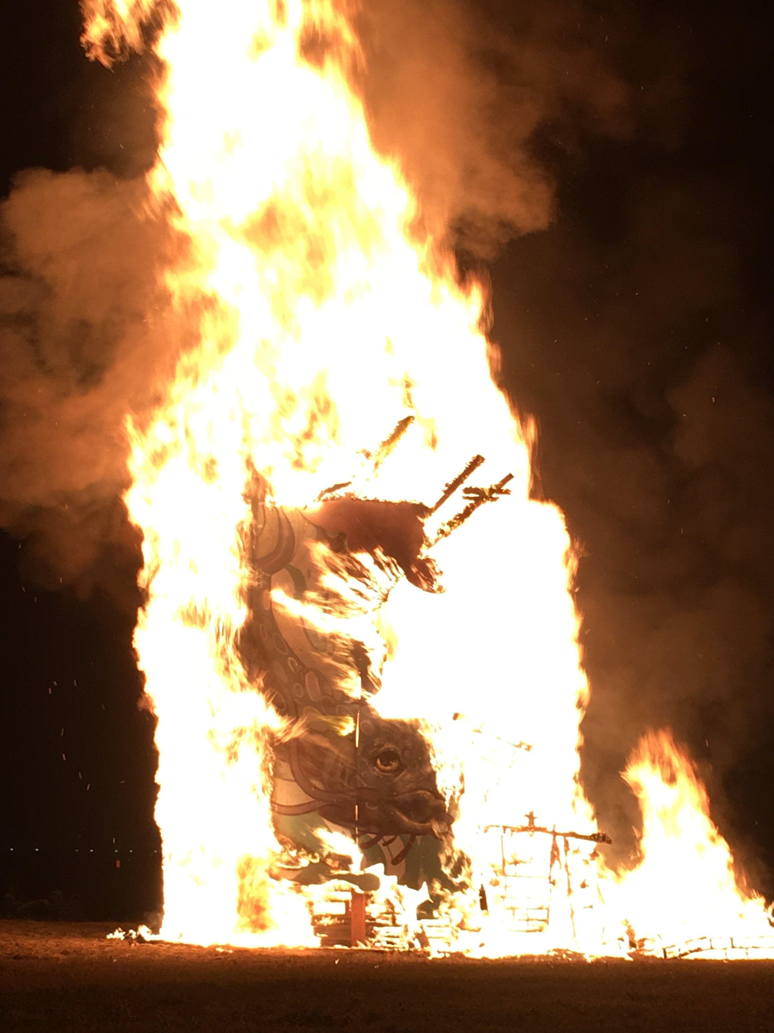 Louisiana Catfish Burning