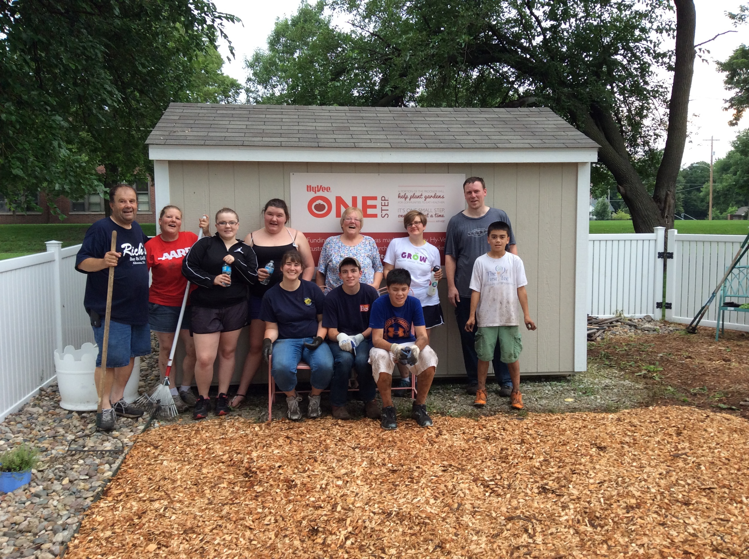 We sponsored a garden work day at Hiatt Middle School