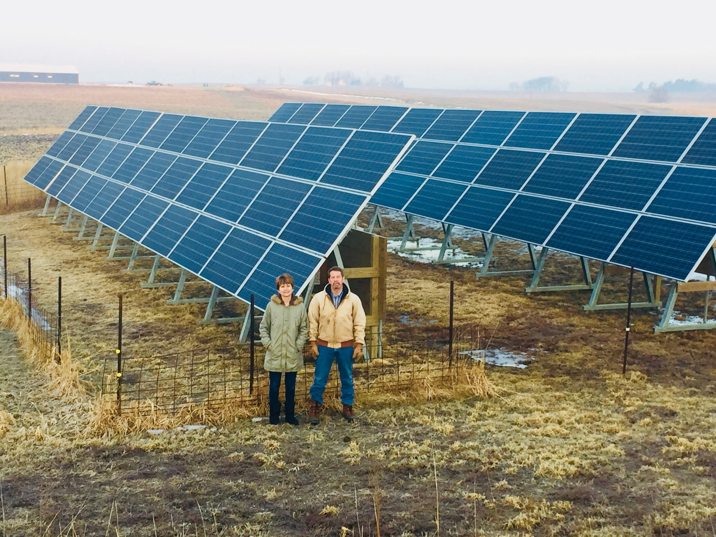 Tanner Briggs Faaborg tells the story of solar on his family's farm, pictured above