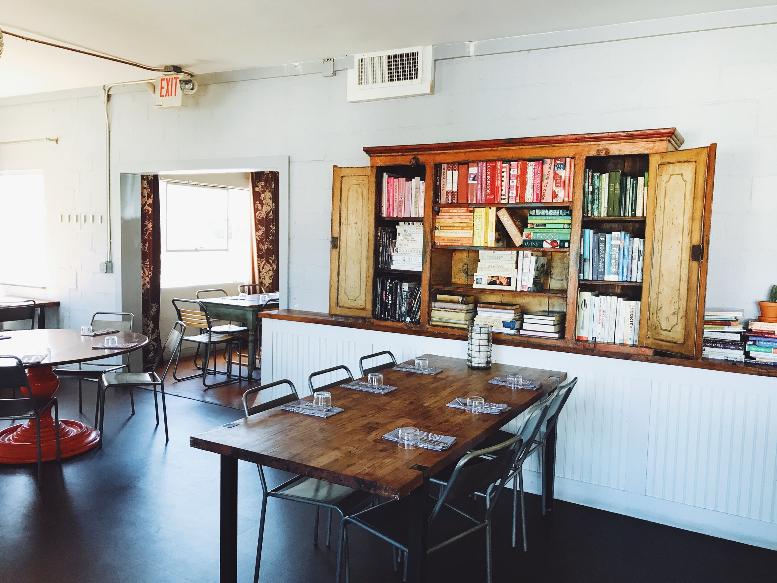 The Library Room can accommodate 34 guests for a sit down meal.