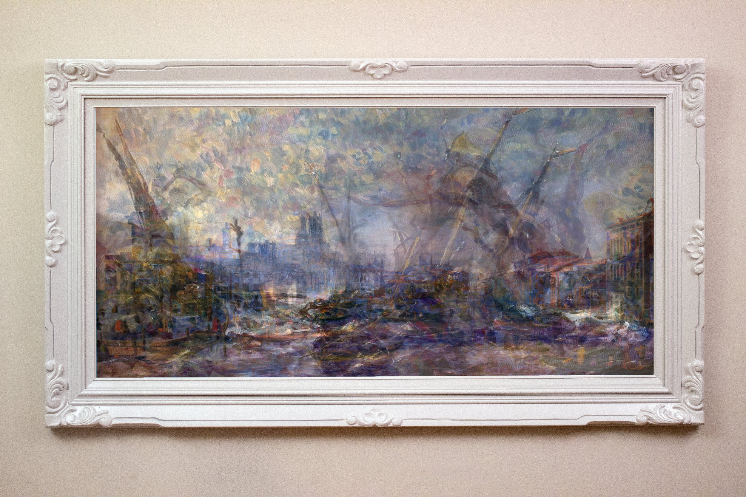 The Sinking of Venice , 2015.  Pigment Print on Luster Paper  60 in. x 33 in. (includes frame)