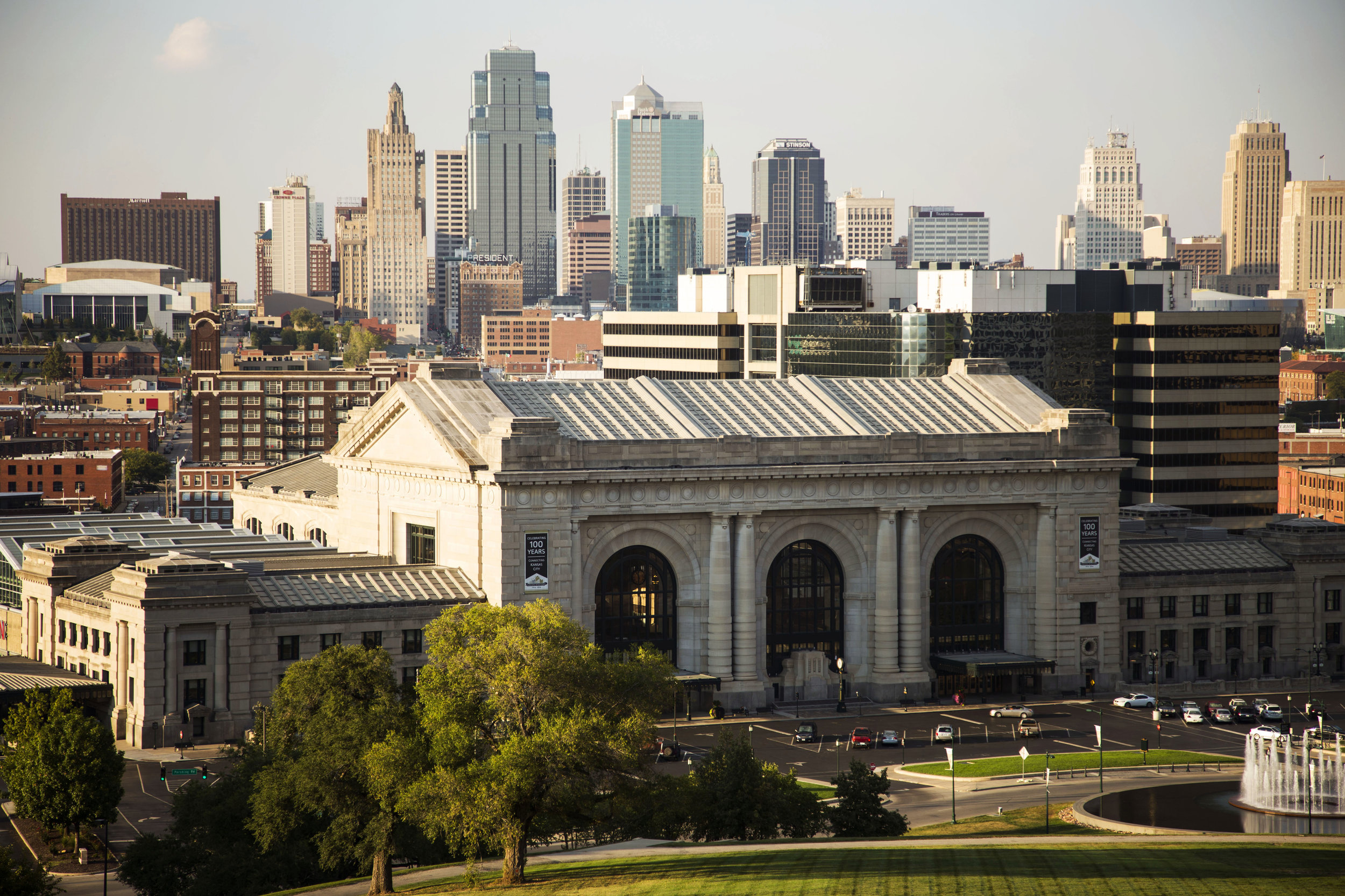 Kansas City, Union Station from the Liberty Memorial