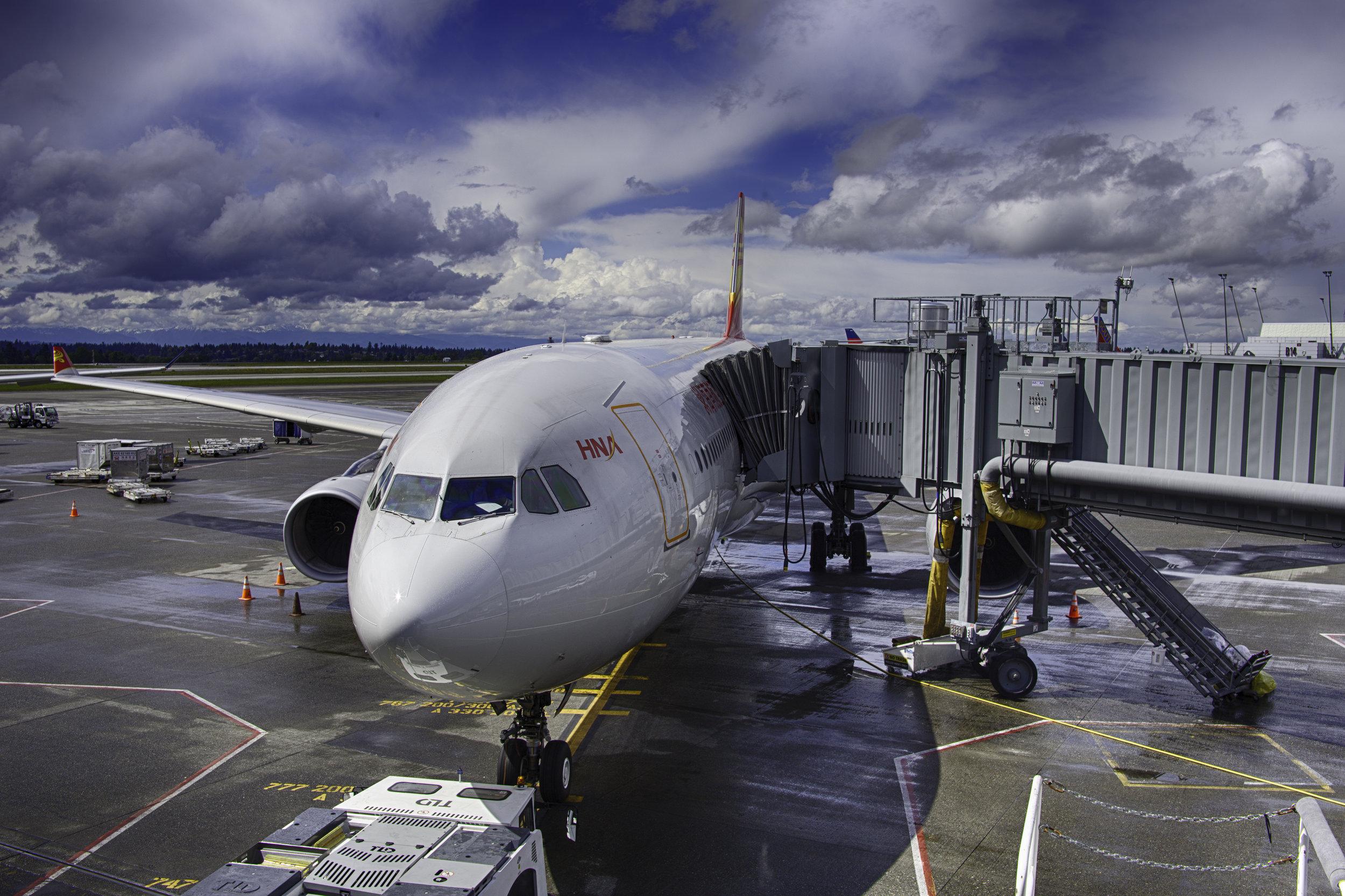 Airbus Plane leaving Seattle