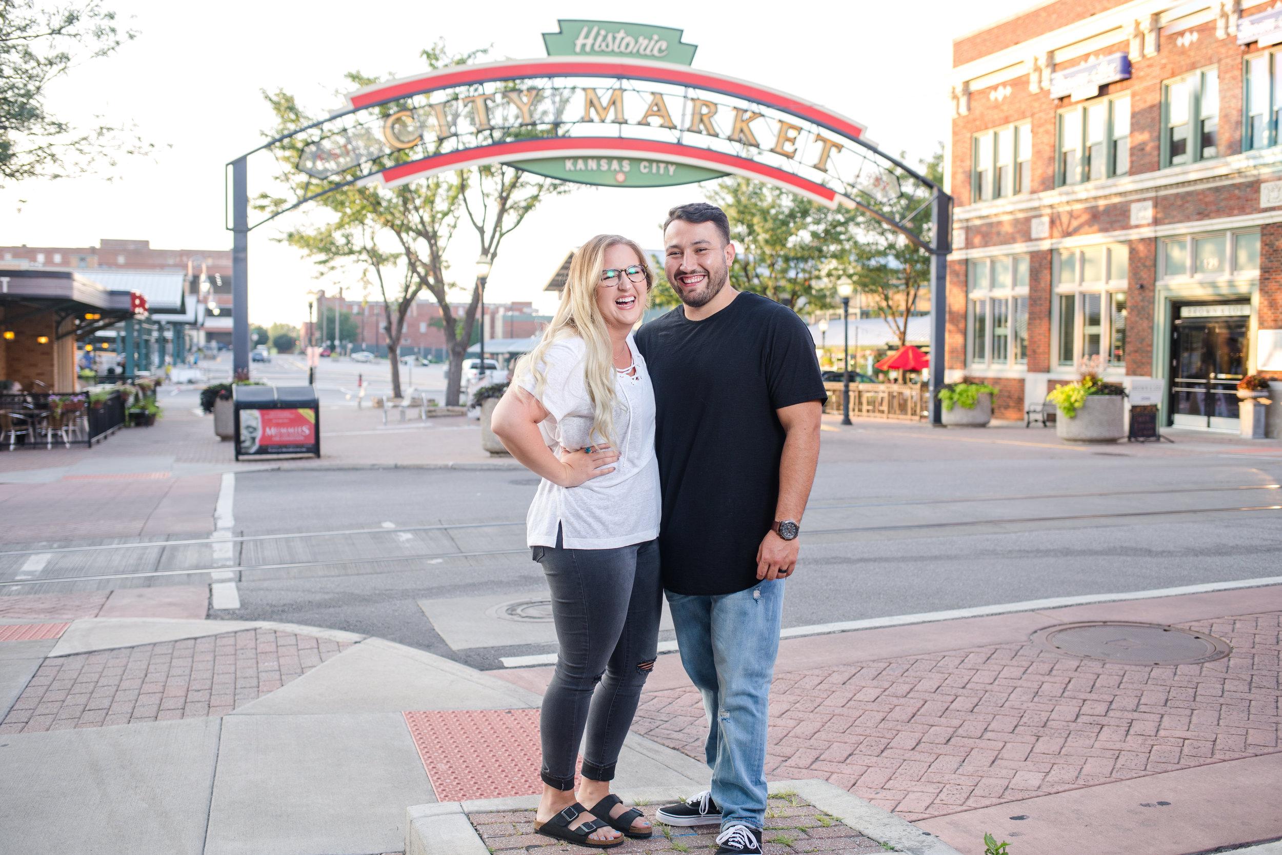 Kansas City River Market Couple Photo Session