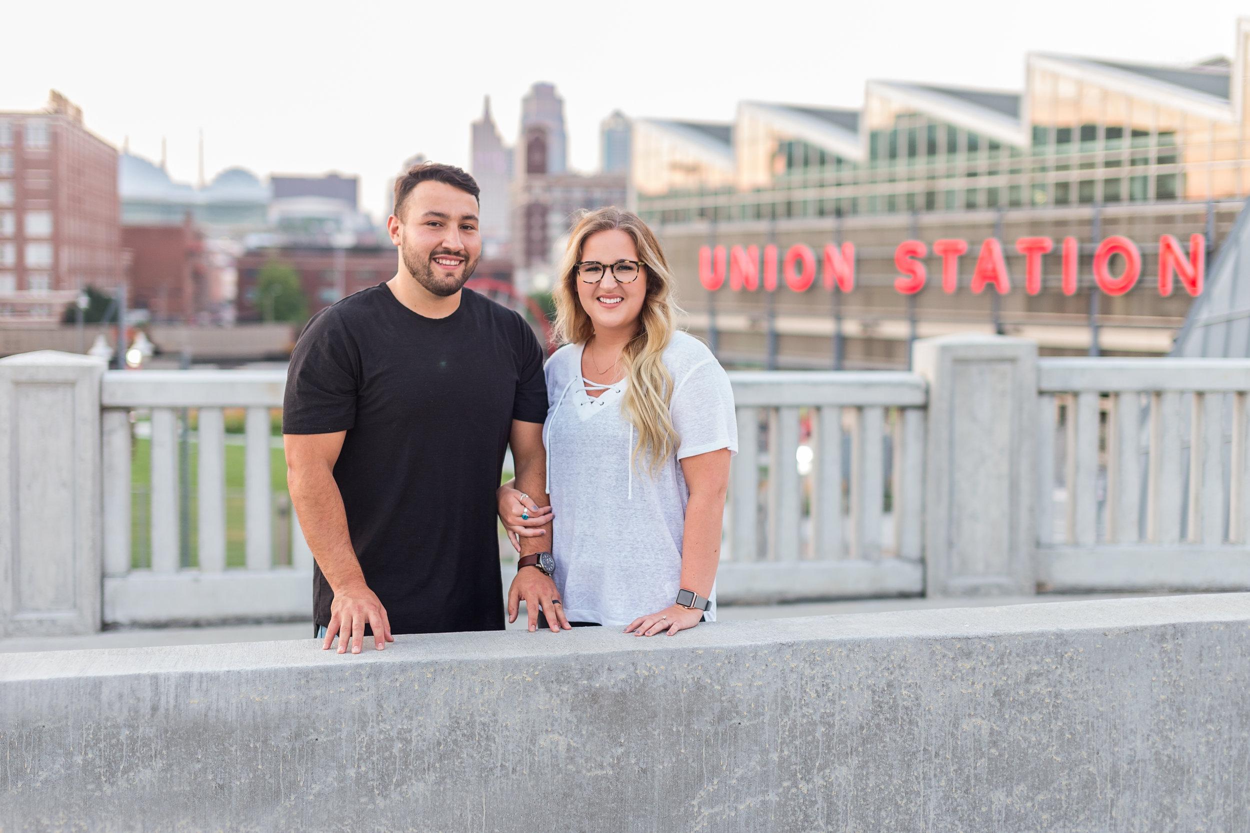 Kansas City Union Station Couple Photo Session