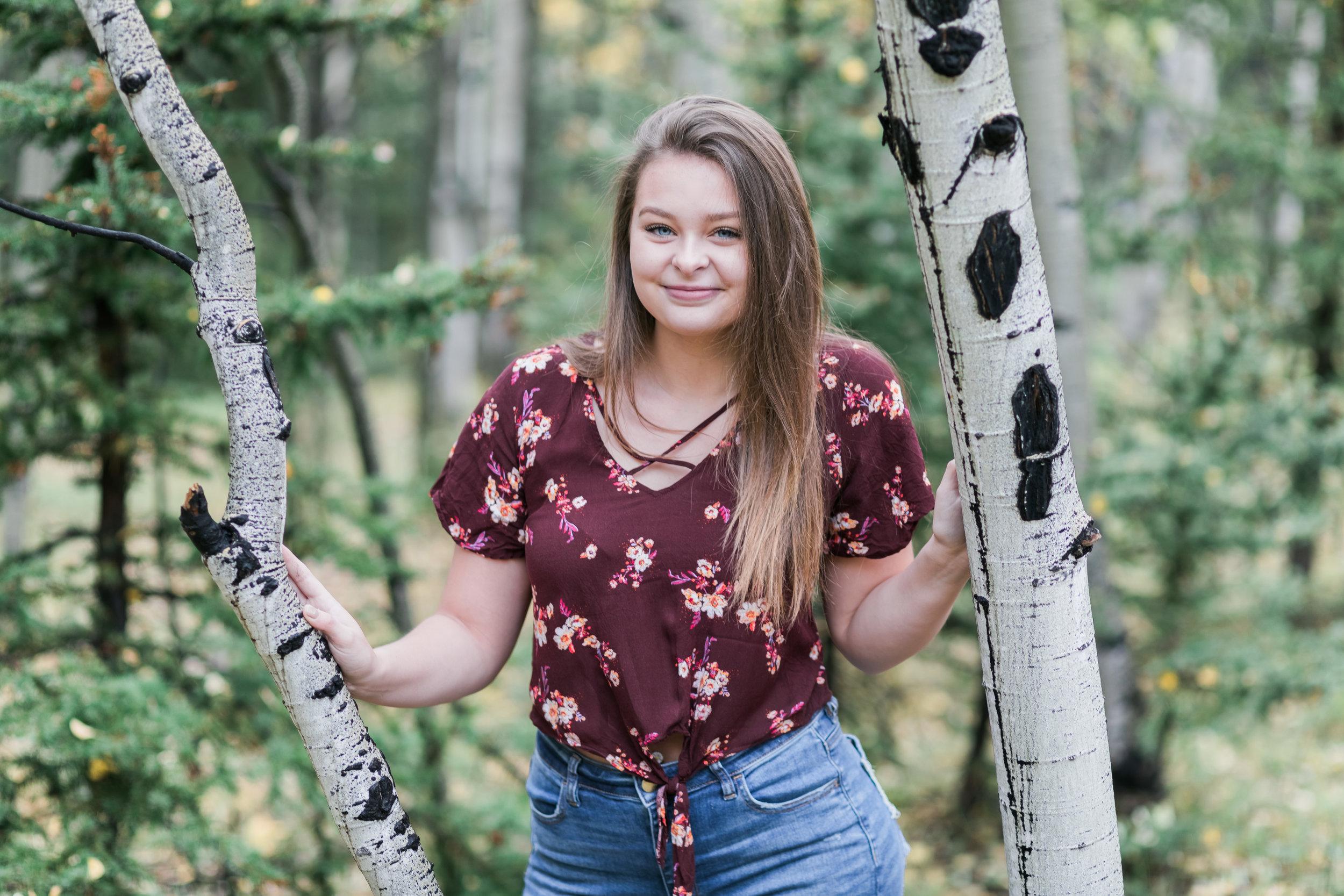 Aspen Trees Senior Pictures