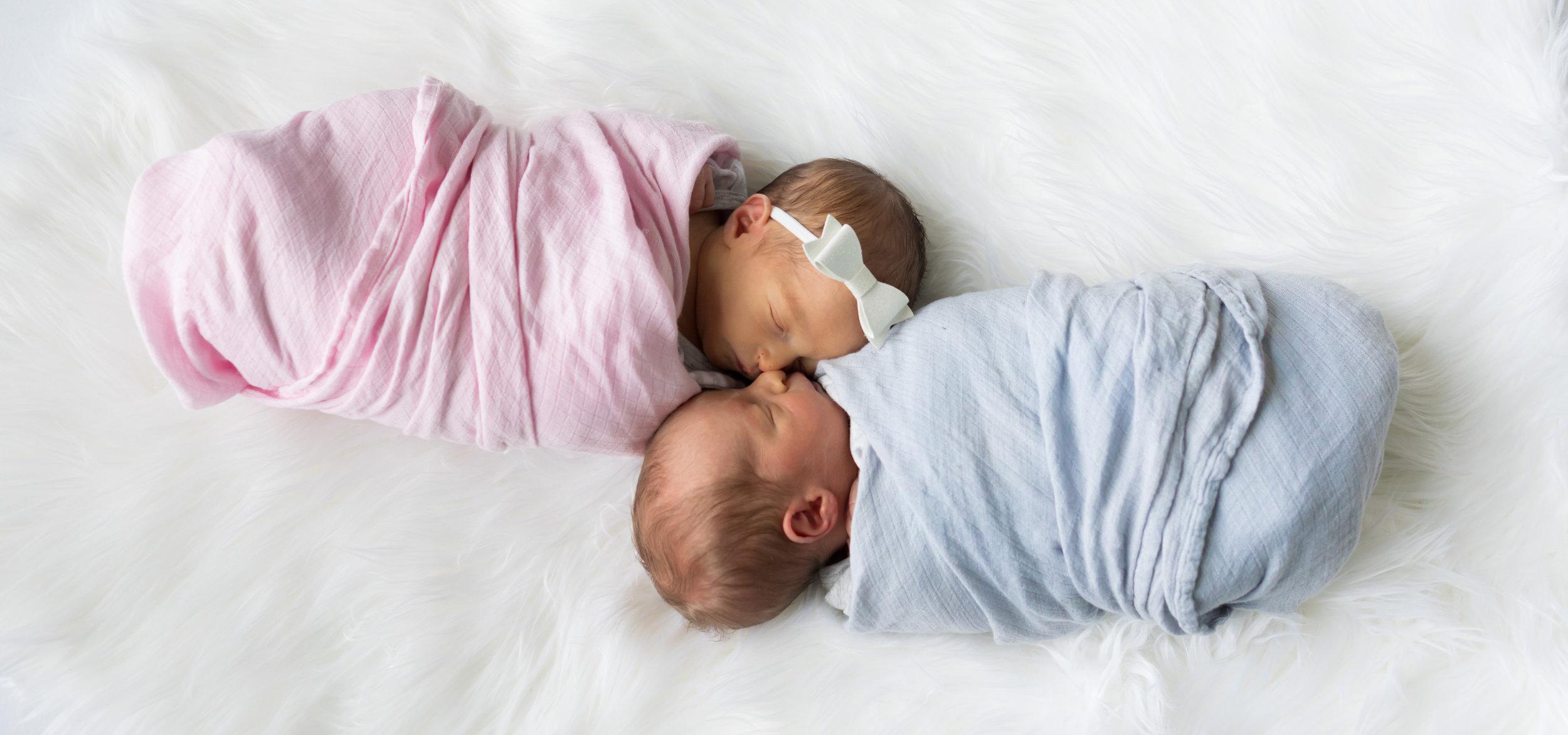 Twin Newborn Lifestyle Photography Kansas City