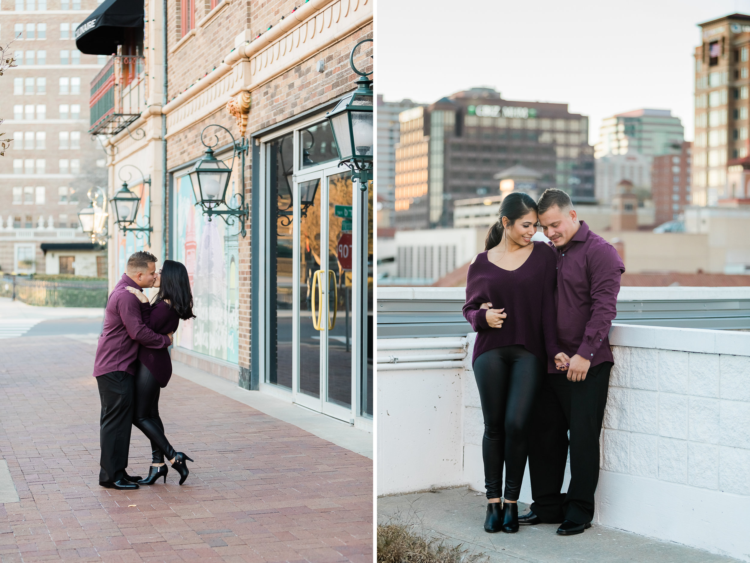 Kansas City Country Club Plaza Engagement Photos  .jpg