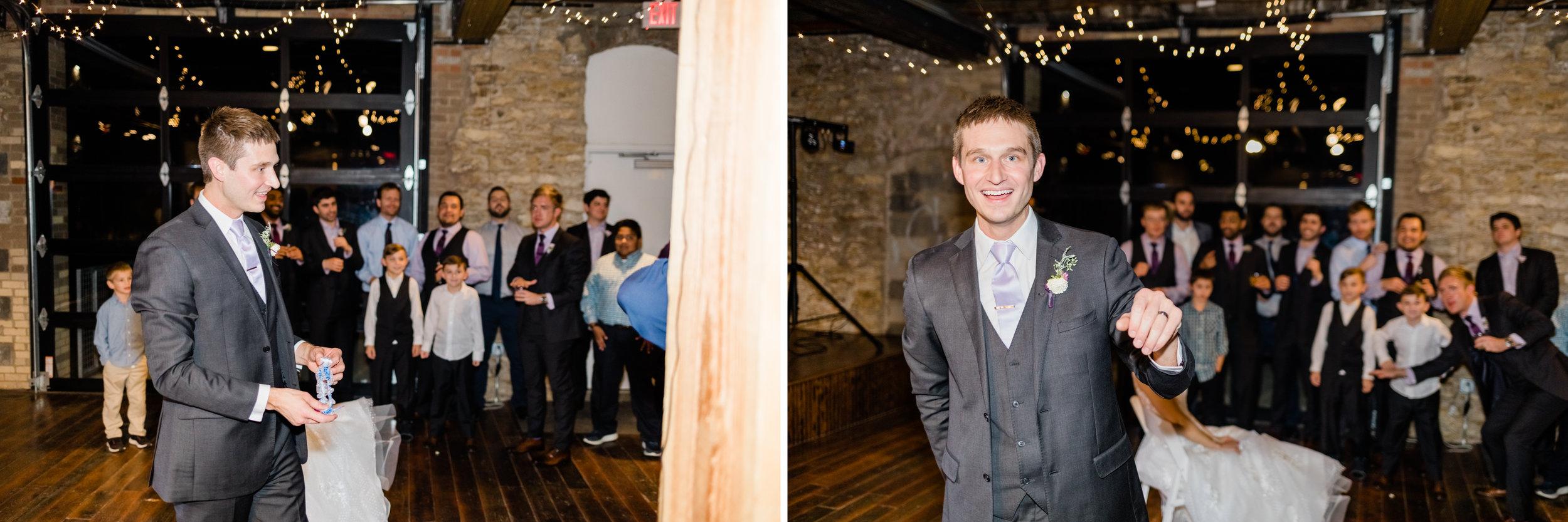 Kansas City wedding photographer garter toss.jpg