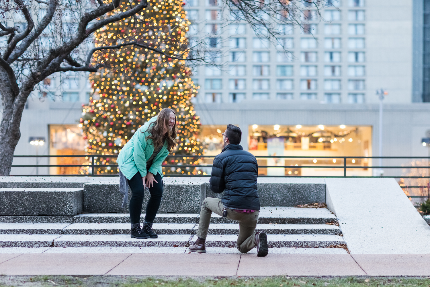 Crown Center Kansas City Proposal Photography