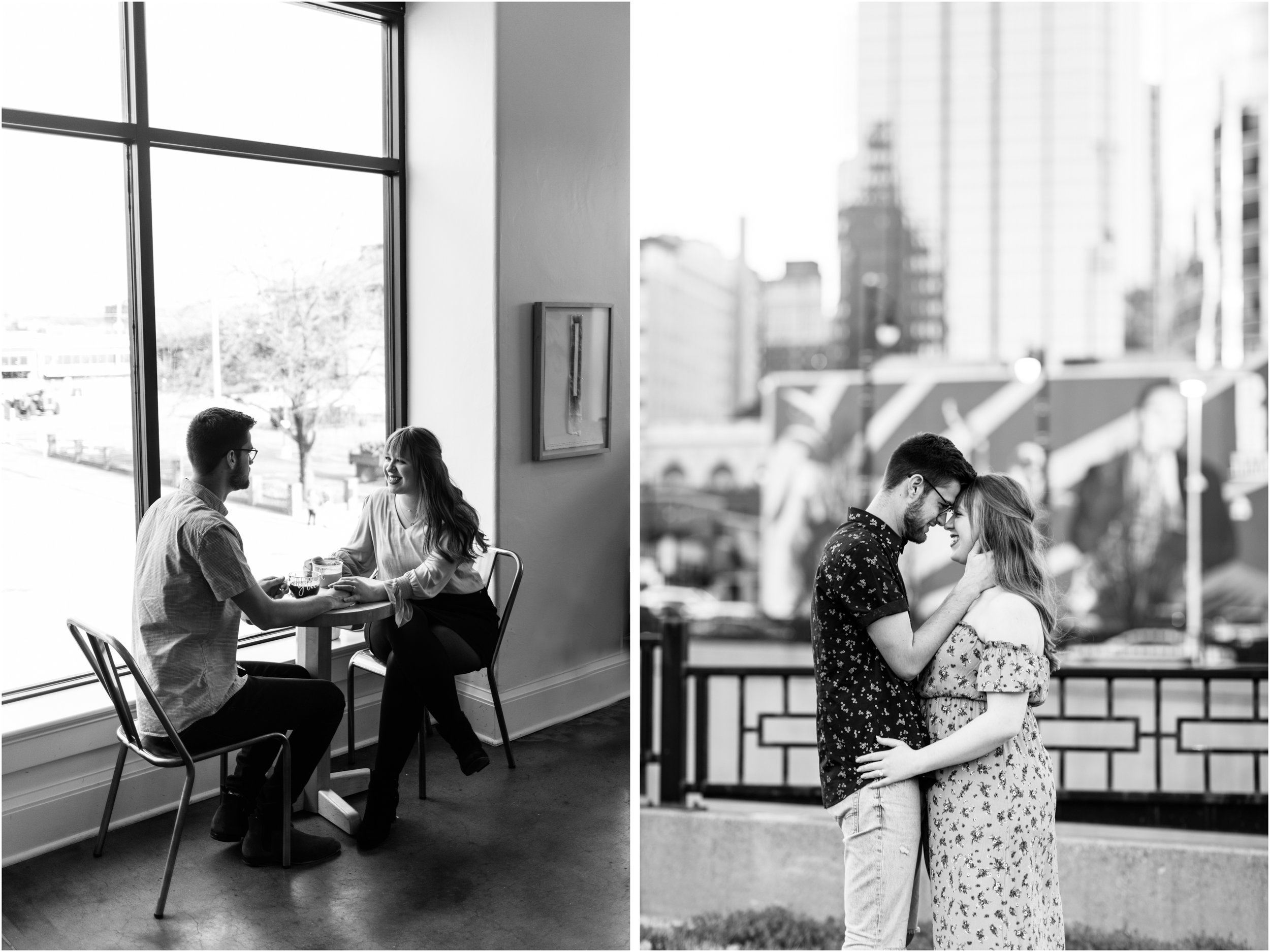 Messenger Coffee and DOwntown KC engagement photo.jpg