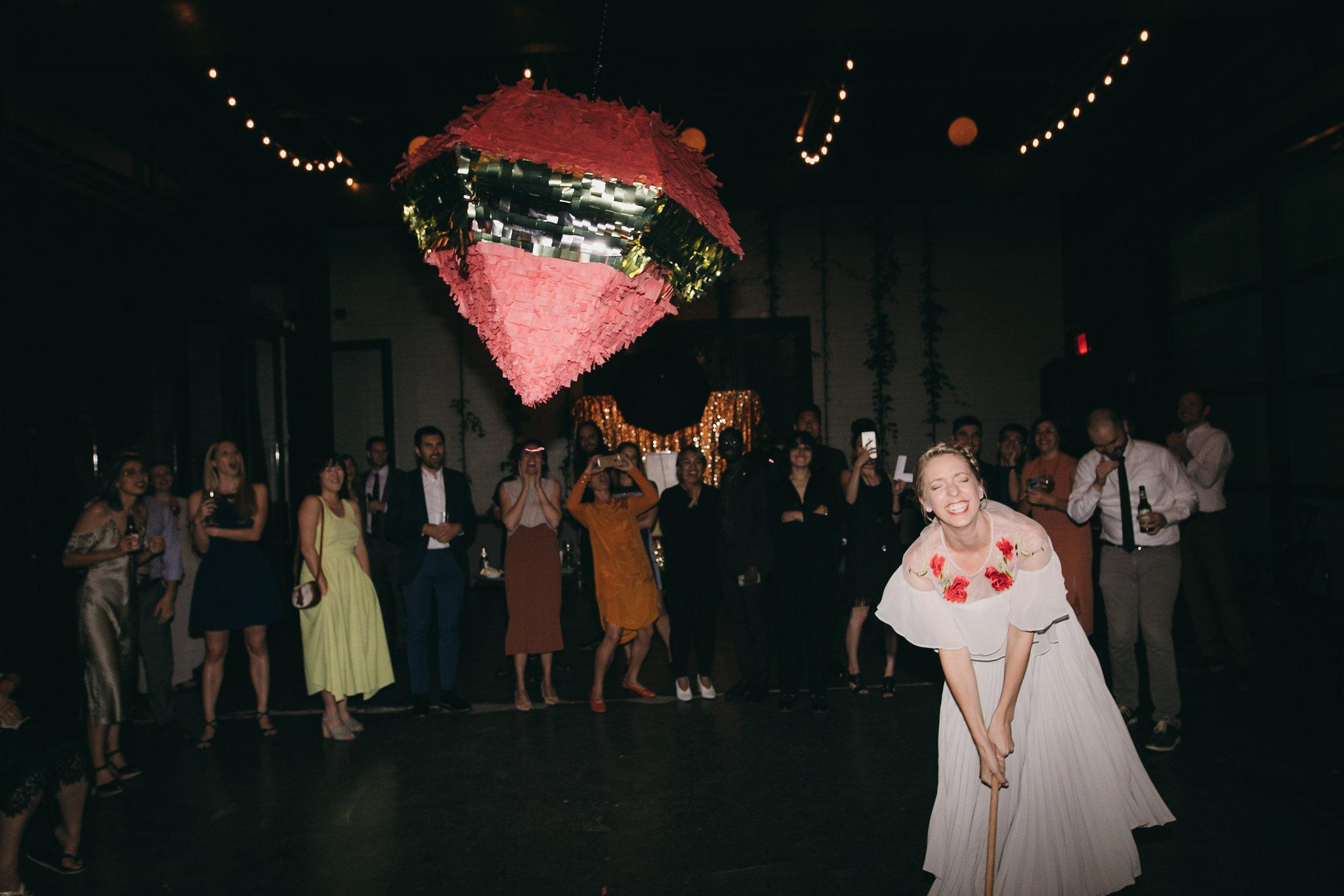 501 Union Modern Brooklyn Wedding Pinata