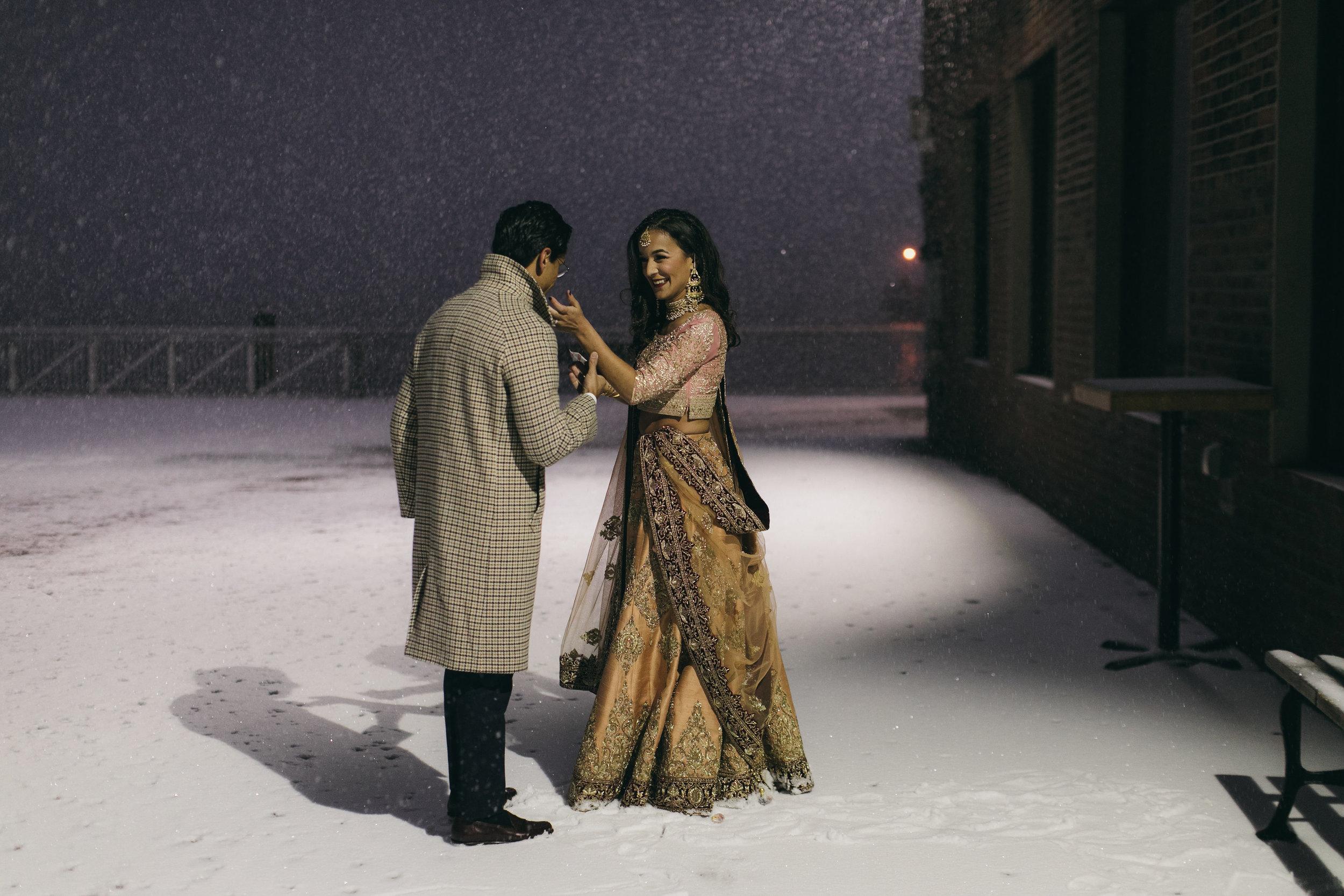 Liberty Warehouse Winter Wedding Brooklyn - One Night Cereus