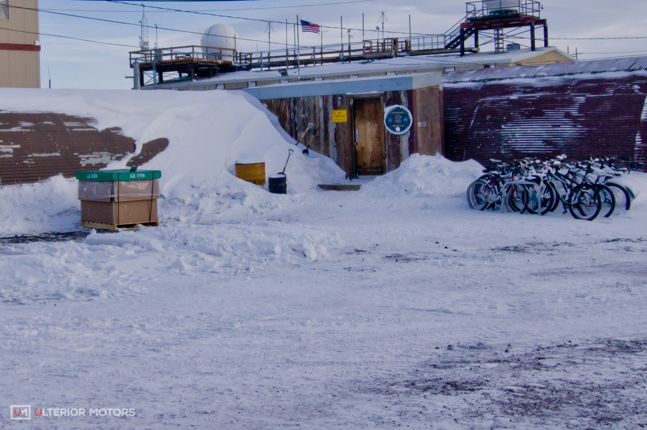 The coffee house drifts in a lot. You can tell by the three shovels that live outside the door.