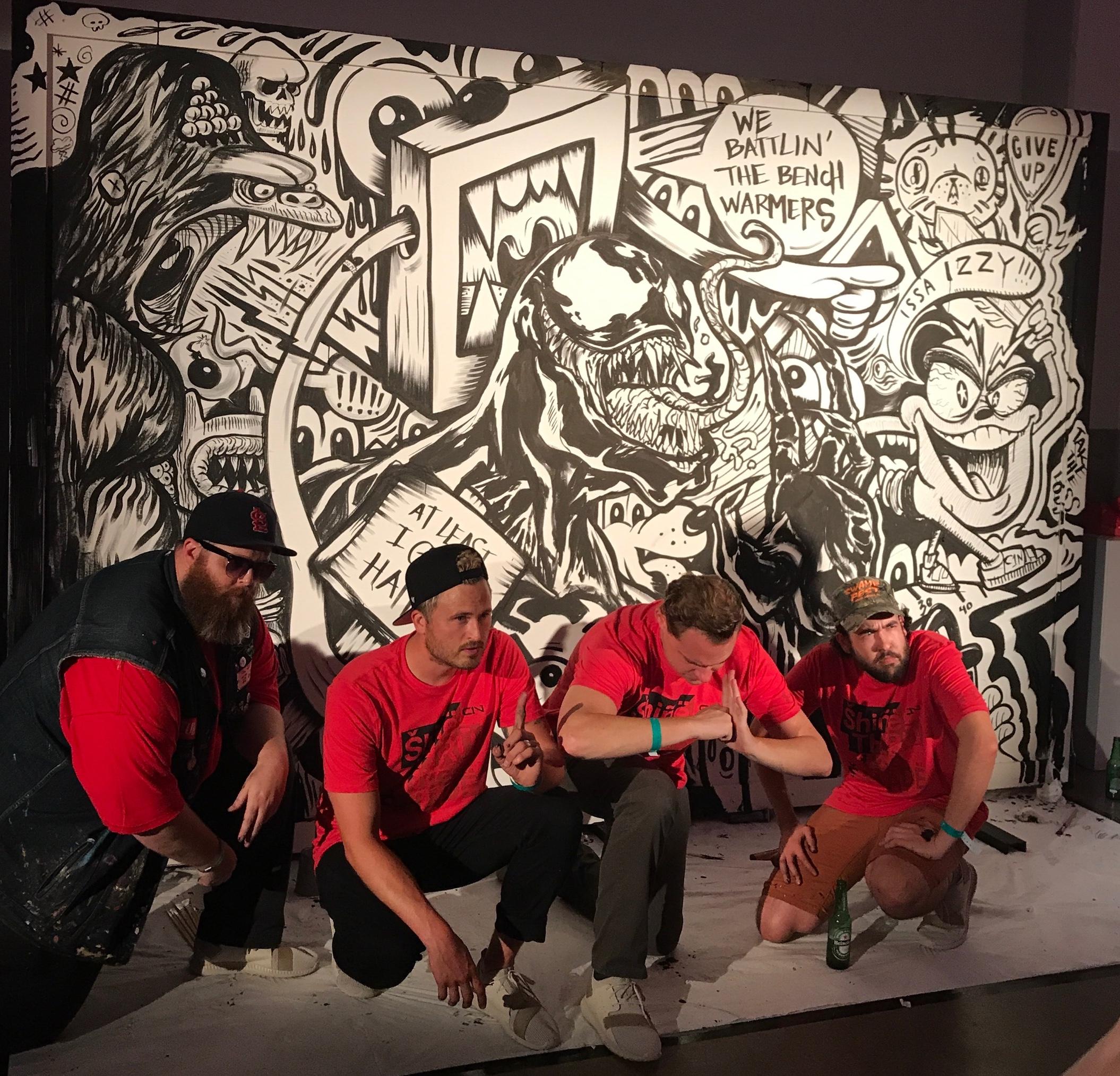 Secret Walls, Midtown Cultural Arts Center, Under Armour Cam Newton CN1 Launch Party, 2017