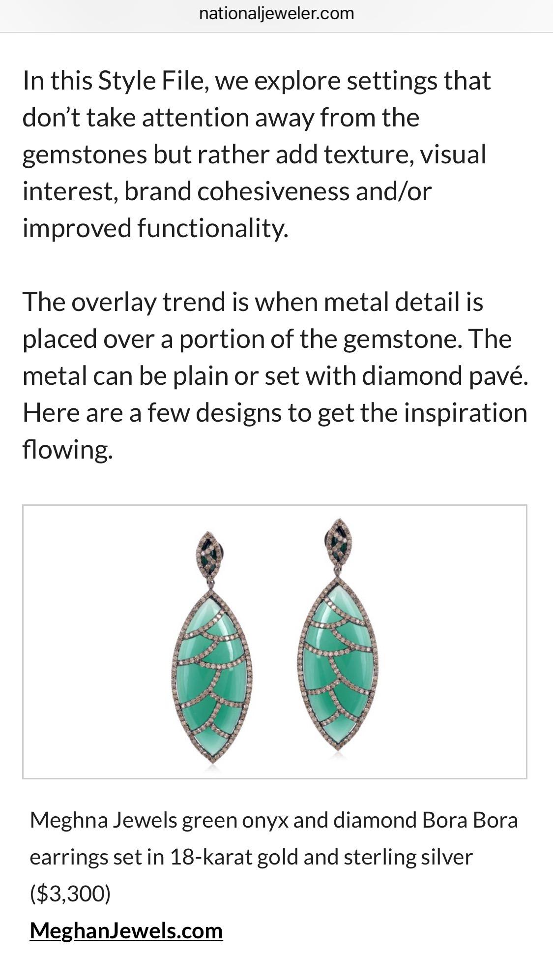 National Jeweler - Bora Bora Earrings