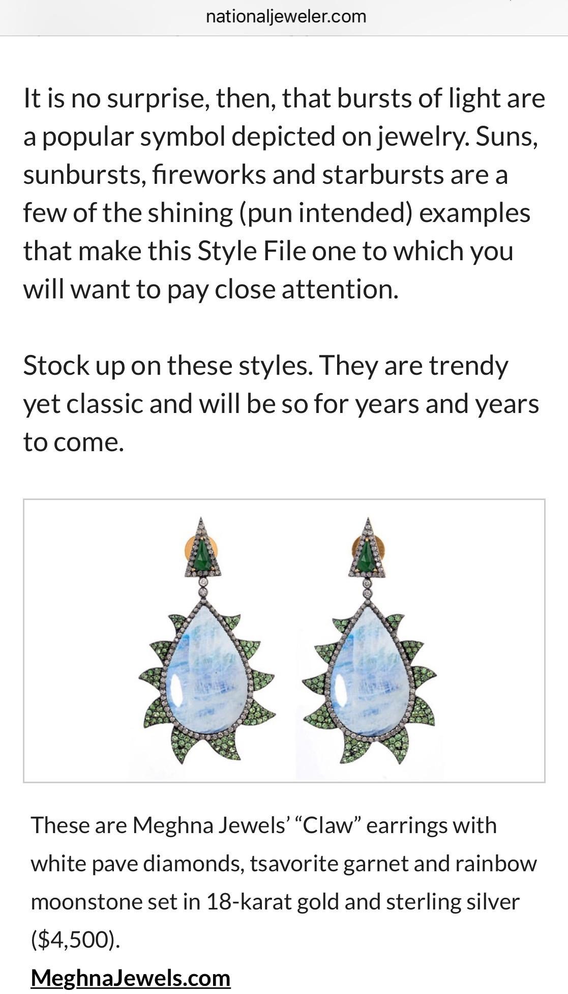 National Jeweler - Claw Earrings