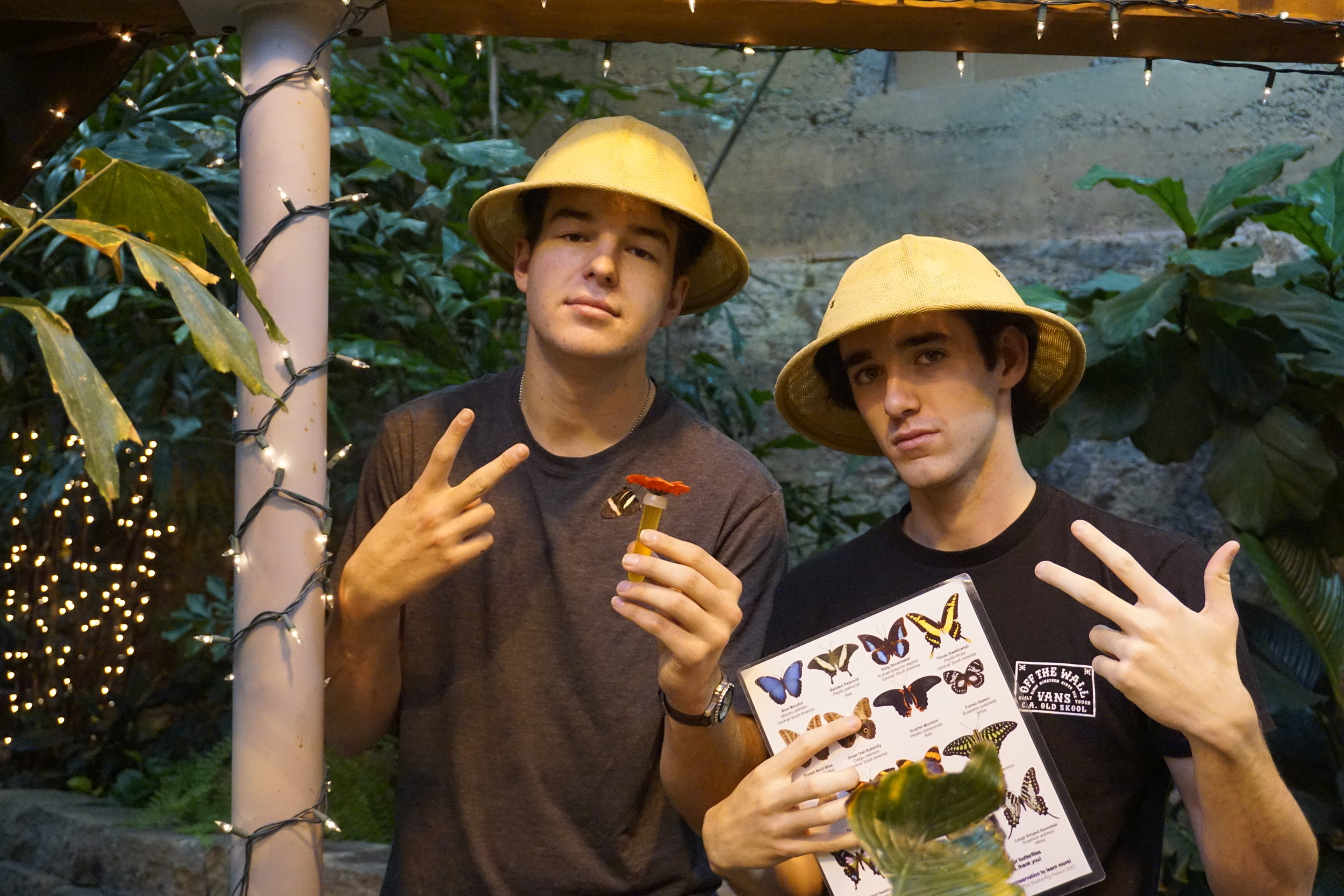 Students in hats