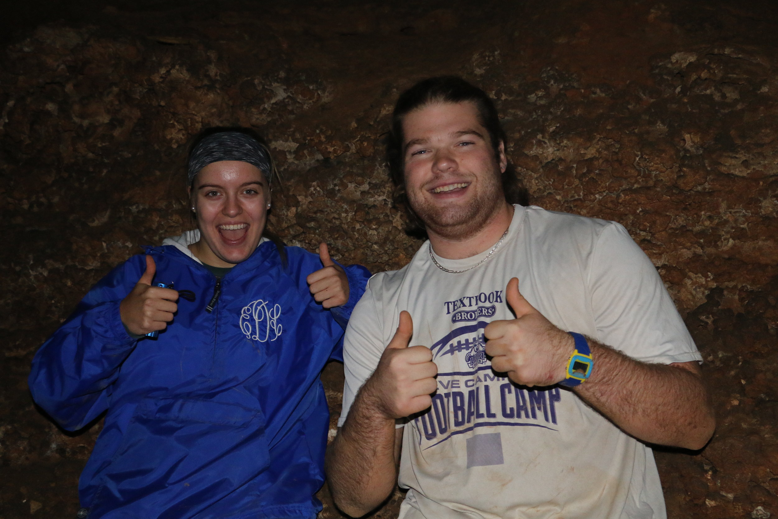 Students in Cave