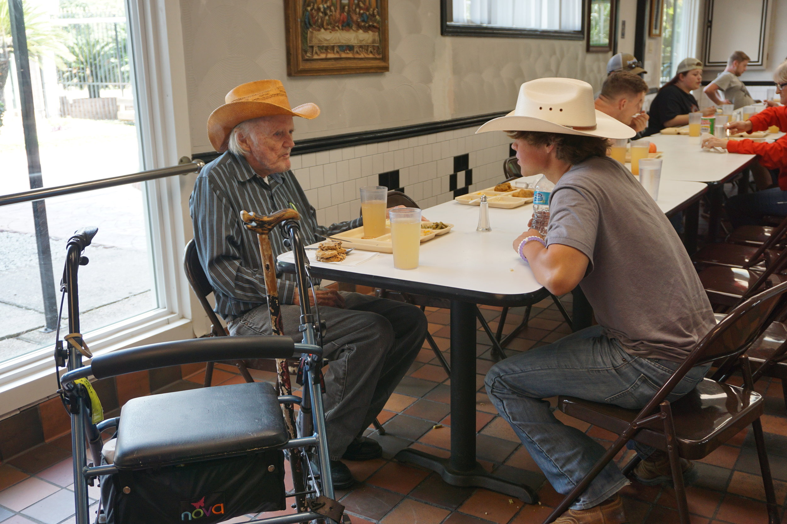 matching cowboy hats!