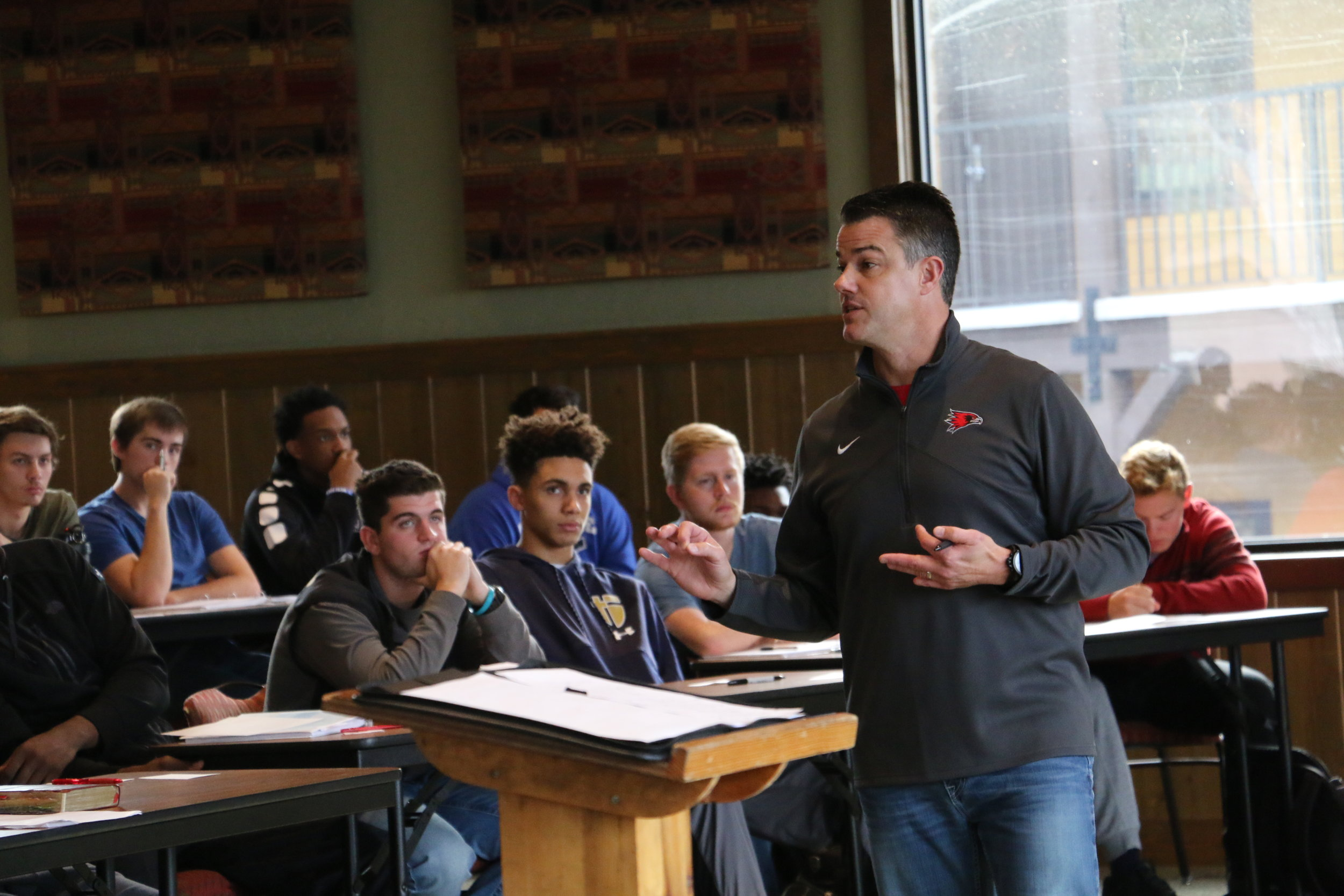 Mr. Harris teaching