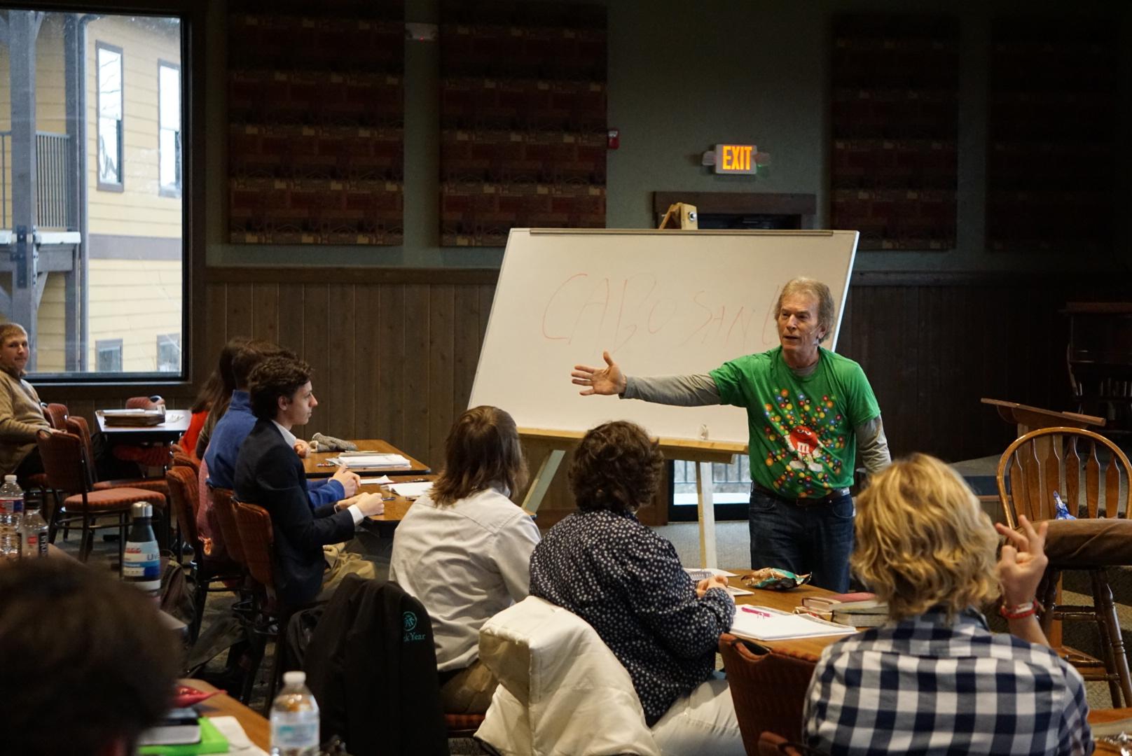 Joe White teaching