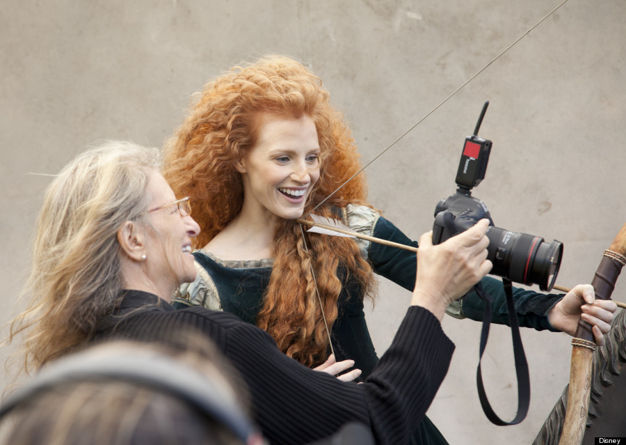 Jessica Chastain as Princess Merida in Latest Disney Dream Portrait by Annie Leibovitz for Walt Disney Parks & Resorts.