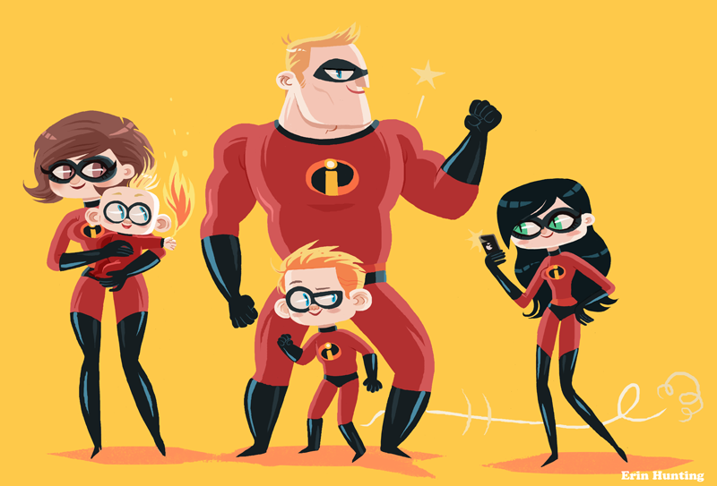 The Incredibles by Erin Hunting, 2014.