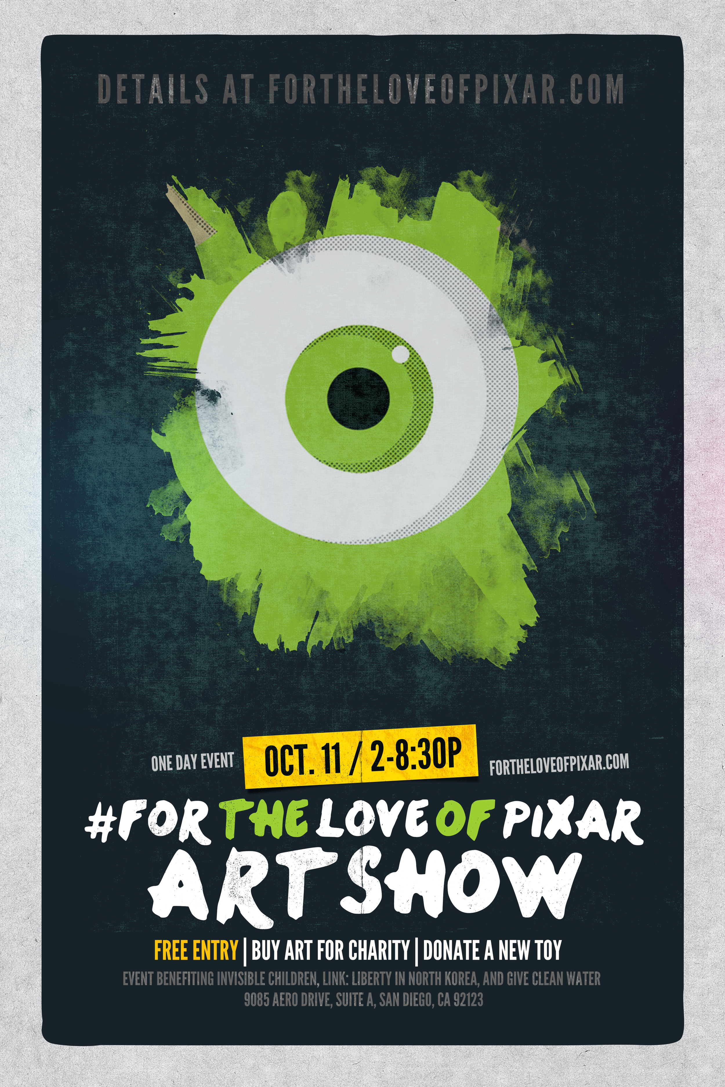 For the Love of Pixar Event Poster