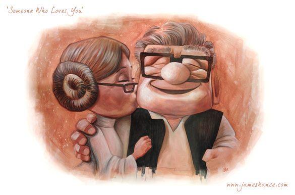 Star Wars meets UP mashup. Illustration by James Hance.