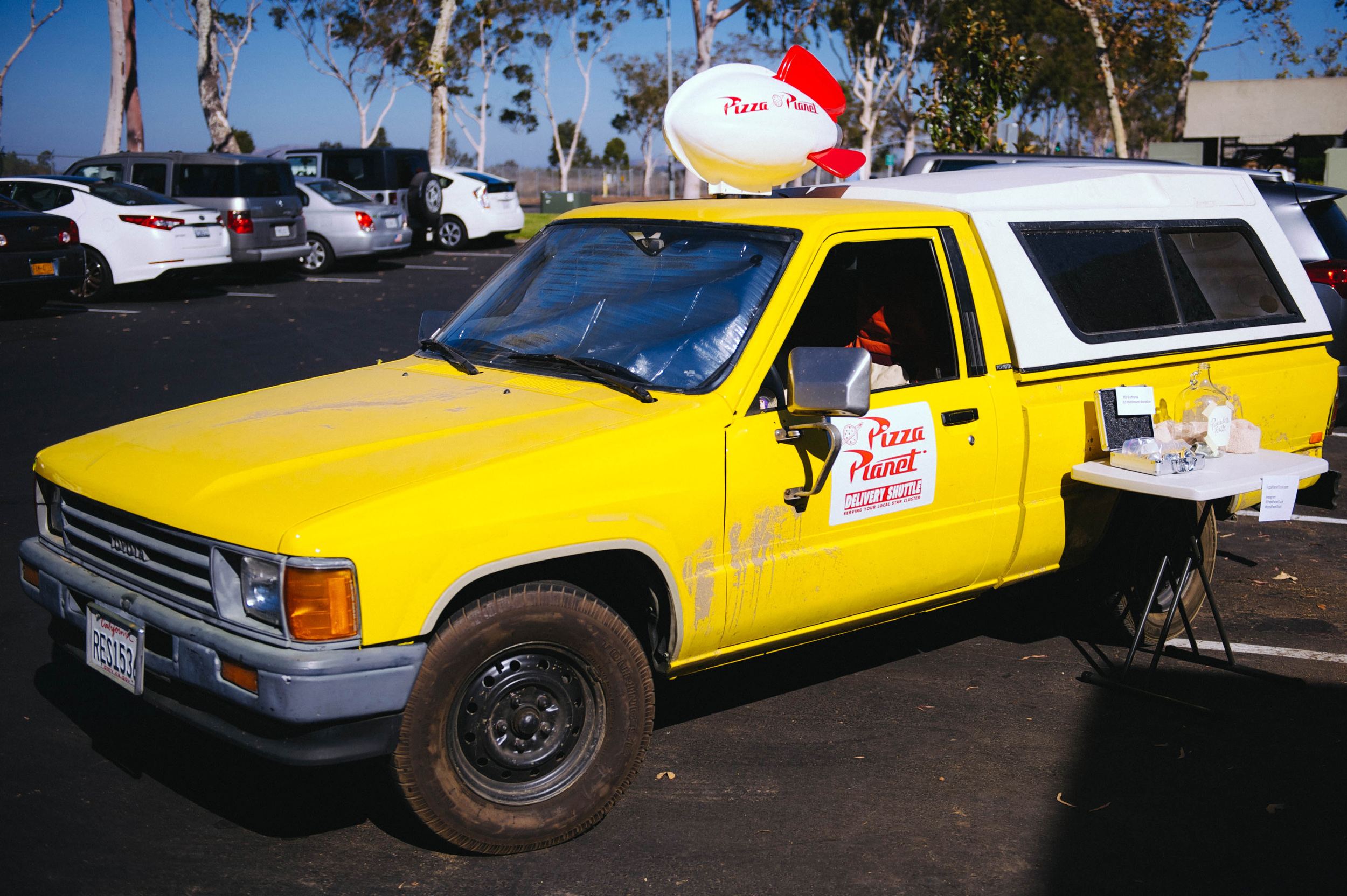 The Pizza Planet Truck courtesy of Marco Bongiorno and friends. Photo by Lisa Diaz.